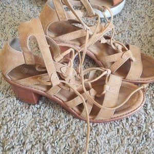 Frye gladiator sandal heels